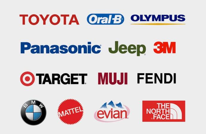 Helvetica 字体的品牌 Logo