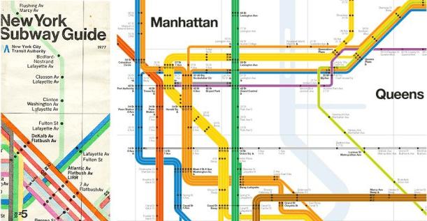 Helvetica 用在地铁导视图上