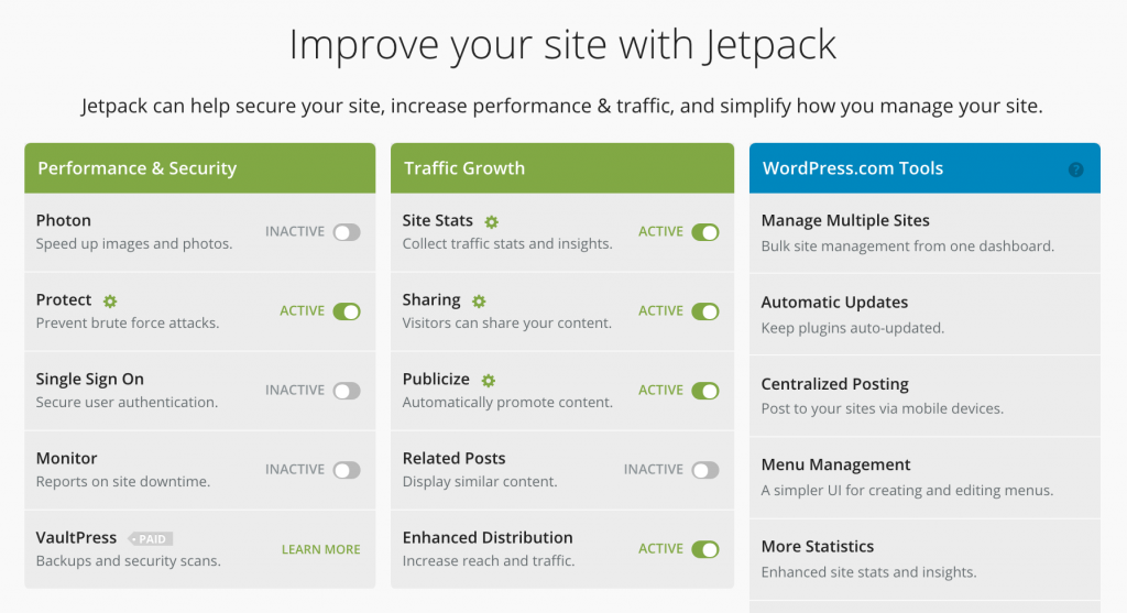 Jetpack 功能