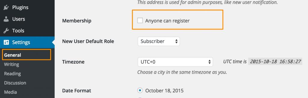 关闭 WordPress 用户注册功能