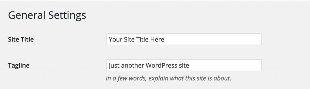 WordPress 标题填写